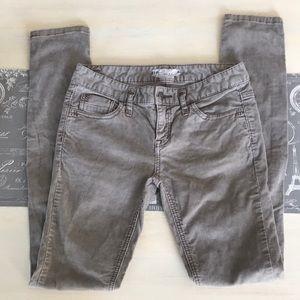 Free People gray corduroy skinny pants